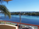 HAVEN WATERS 7. Quality lakefront apartments designed to capture magnificent views and wonderful sunsets over Wallis Lake. Positioned close to boat ramp, lake baths and within easy flat walking distance to Forster Main Street shopping and Main Beach. Features, open plan kitchen spacious lounge/dining. SPA bath in main bathroom, ensuite off main bedroom. Dishwasher, Digital TV , VCR/DVD combo, phone for incoming calls. LIFT FROM CAR LEVEL TO ALL FLOORS. New Queen bed Oct 09, 1 x Double, Tri bunk + 1 Single, NO LESS THAN 3 DAY BOOKINGS OR 1 WEEK IN PEAK SEASON, CONTACT AGENT FOR AVAILABILITY AND PRICING